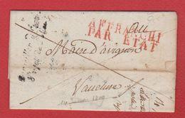 Lettre De Paris  --   Pour Avignon  -- 14 Janv 1809 -- Affranchi Par Etat - Postmark Collection (Covers)