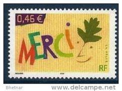 "Timbre France Yt 3540 "" De Message "" 2003 Neuf MERCI - France"