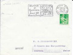 LOIR ET CHER 41   - BLOIS RP  -  FLAMME N° 1146    - 5e CENTENAIRE LOUID XVII ANNE DE BRETAGNE  -  1962  BELLE FRAPPE - Marcophilie (Lettres)