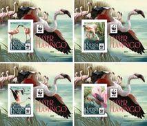 Sierra Leone 2017, WWF, Flamingo, 4BF Deluxe - W.W.F.