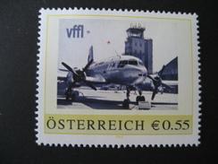 Österreich- Pers.BM 8007087** 50 Jahre Blue Danube Airport Linz Vffl Flugzeug - Private Stamps