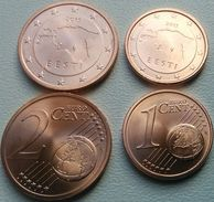 Eurocoins Estonia 1+2 Cents 2015 UNC / BU - Estonia