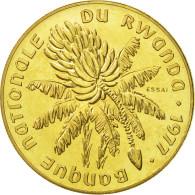 Rwanda, 20 Francs, 1977, FDC, Laiton, KM:E6 - Rwanda