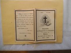 SOUVENIR DE L'INAUGURATION DU MONUMENT A LA MEMOIRE DES HEROS MORTS POUR LA FRANCE 1914-1918 - Devotion Images