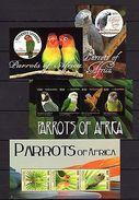 Gambia 2011 Parrots MNH Mi.6475-81 Bl.816-17 - Oiseaux