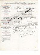 25 - Doubs - ORNANS - Facture POUGUET - Fonderie Et Ateliers De Constructions Mécaniques Et éléctriques - 1913 - REF 70A - 1900 – 1949