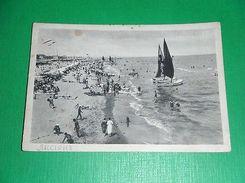 Cartolina Riccione - La Spiaggia 1935 - Rimini