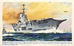 Bernard W. Church  -  H.M.S. Ark Royal, Aircraft Carrier  (repro) - Warships