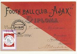 D30750 CARTE MAXIMUM CARD RR 2008 NETHERLANDS - SOCCER AJAX AMSTERDAM CP ORIGINAL - Famous Clubs