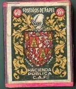 Old Matchbox - Paper Matches - Spain 1940 - Jaén - Cajas De Cerillas (fósforos)