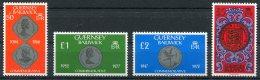 Guernsey 50p, £1, £2, £5 Definatives. Unmounted Mint - Guernsey