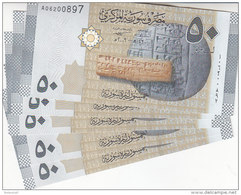 SYRIA 50 LIRA 2009 P-112 LOT X10 UNC NOTES  */* - Syrie