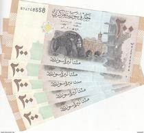 SYRIA 200 LIRA 2009 P-114 LOT X5 UNC NOTES  */* - Syria