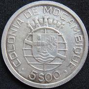 Mozambique 5 $ 00 Escudos 1938 VF - Silver - Mozambique