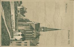 BE HOUTHEM /Houthem 1915  Dessin W. Krause /  FELDPOSTKHARTE - Comines-Warneton - Komen-Waasten