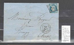 Lettre    Gare D'Auxerre - Yonne - Indice 9 - Postmark Collection (Covers)
