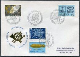 1976 Switzerland Sonderstempel Cover. Luzern Verkehrshaus Space Satellite Telephone - Covers & Documents