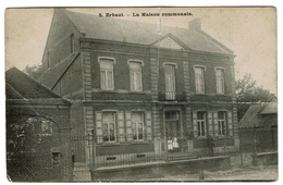 Erbaut - Jurbise - La Maison Communale - Rare - !! Carte Abîmée, Pliée - 2 Scans - Jurbise