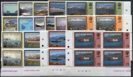 Falkland Island Dependencies F.I.D. Views & Ships Definatives Set. Plate Bocks Of 4 Unmounted Mint U/M - Falkland Islands