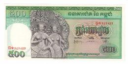 Cambodia 500 Riels 1958-70 UNC - Cambodge
