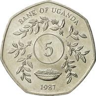 Uganda, 5 Shillings, 1987, SPL, Nickel Plated Steel, KM:29 - Ouganda