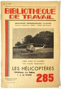 LIVRET 1954 LES HELICOPTERES 2 CV CITROEN BIBLIOTHEQUE DU TRAVAIL BT 285 - Helicopters