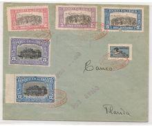 URUGUAY -1925 SOBRE CERT AEREO De MONTEVIDEO A FLORIDA - Yv. 298/302 + Aereo Centenario Del Congreso De Florida Yv # A7 - Uruguay