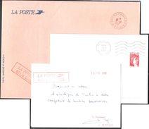 FRANCE '62 CAMIERS' 1982/90  3 MARQUES POSTALES Et  OBLITERATIONS - Marcophilie (Lettres)