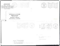 FRANCE '62 CARVIN P.P.' 1988/94  5 MARQUES POSTALES - Marcophilie (Lettres)