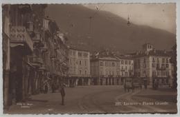 Locarno - Piazza Grande - Animee Tram - Photo: Ditta G. Mayr No. 281 - TI Tessin