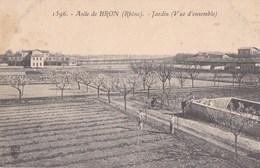 69 BRON  Vue Sur Les Maisons Et JARDIN De L' ASILE Animé - Bron