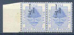 Orange Free State 1896. ½d On 3d Ultramarine (type G). SACC 44*, SG 75*. - Oranje-Freistaat (1868-1909)