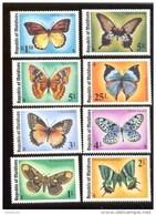 MALDIVES ; MINT N.H. STAMPS ; SCOTT # 584-91 ;  IGPC 1975 (  BUTTERFLIES - Maldives (1965-...)