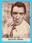 ANTHONY QUINN  -  Yugoslavian Vintage Gum Card 1960's * USA Film Actor - Cinema & TV