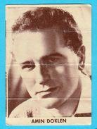AMIN DOKLEN -  Yugoslavian Vintage Gum Card 1960's - Cinema & TV