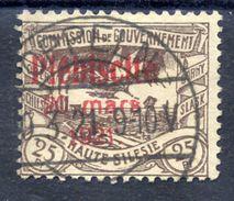 UPPER SILESIA 1921 Plebiscite Overprint On 25 Pfg. Used.  Michel 33 - Germany