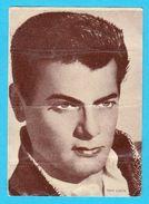 TONY CURTIS  -  Yugoslavian Vintage Gum Card 1960's * USA Film Actor - Cinema & TV