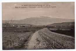 LE MONT VENTOUX (84) - ROUTE DE CARPENTRAS A L'OBSERVATOIRE - Carpentras