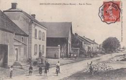 52 HEUILLEY Le GRAND  Maisons Animation Rue Du TERTRE  Timbre 1907 - France