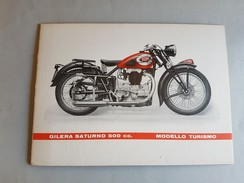 GILERA Saturno 500 Turismo 1952 Locandina- Piccolo Poster Originale No Copia- Affiche Original -genuine Factory Poster - Moto