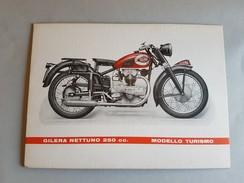 GILERA Nettuno 250 Turismo 1952 Locandina- Piccolo Poster Originale No Copia- Affiche Original -genuine Factory Poster - Moto
