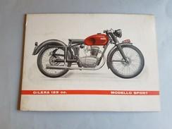 GILERA Motoleggera 125 Sport 1952 Locandina Poster Concessionari Originale Affiche Original Genuine Factory Poster - Moto