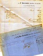 Merksem  Merxem  2 Facturen  Dokter Borrewater En Dokter Van Aertselaer  1861  1868  A4 En A5 - 1800 – 1899