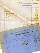 Merksem  Merxem  2 Facturen  Dokter Borrewater En Dokter Van Aertselaer  1861  1868  A4 En A5 - Belgique