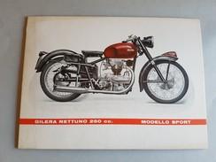 GILERA Nettuno 250 Sport 1952 Locandina Poster Concessionario Originale- Affiche Original Genuine Factory Poster - Moto