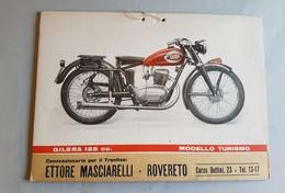 GILERA Motoleggera 125 Turismo 1952 Locandina Concessionari Originale No Copia Affiche Original Genuine Factory Poster - Moto