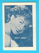 COLETTE RIPERT  -  Yugoslavian Vintage Gum Card 1960's * France French Actress Francaise Actrice - Cinema & TV