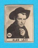 ALAN LADD  -  Yugoslavian Vintage Gum Card 1960's * Usa American Film Actor & Producer - Cinema & TV