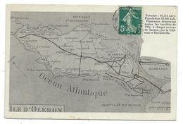 CPA - ILE D' OLERON - Charente Maritime 17 - Carte Géographique - Ile D'Oléron