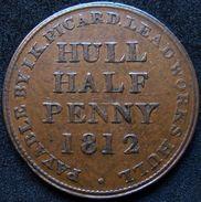 Great Britain Hull 1/2 Penny 1812 - Commerce Extérieur, Essais, Contremarques Et Surfrappes